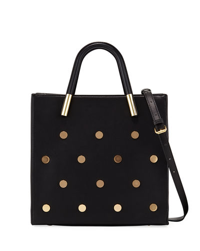 Betsy Round-Stud Tote Bag