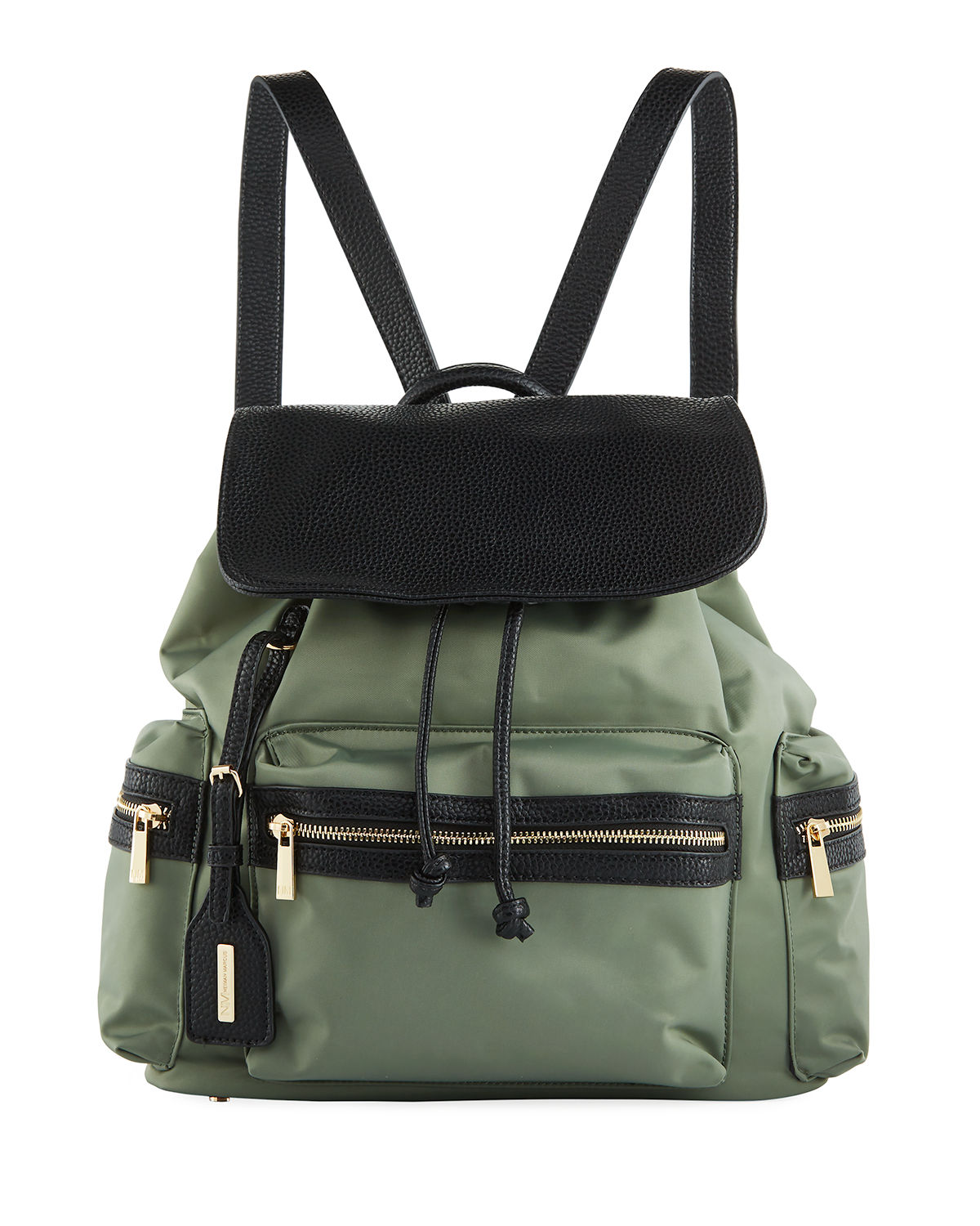 Elizabeth Contrast Trim Nylon Backpack