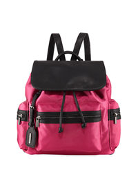 LastCall by Neiman Marcus deals on Neiman Marcus Elizabeth Contrast-Trim Nylon Backpack