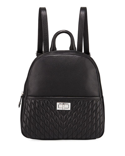 Karl Lagerfeld Paris Agyness Pebbled Leather Backpack