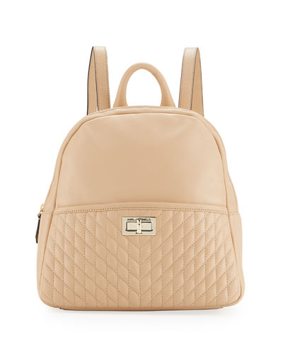 Agyness Pebbled Leather Backpack
