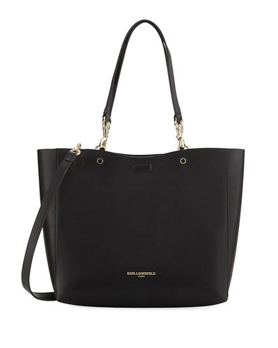 Karl Lagerfeld Paris Adele Smooth Faux-Leather Tote Bag