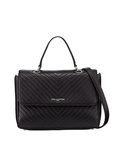 Charlotte Quilted Leather Shoulder Bag