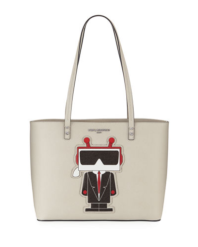 Karl Lagerfeld Paris Maybelle Saffiano Leather Choupette Tote