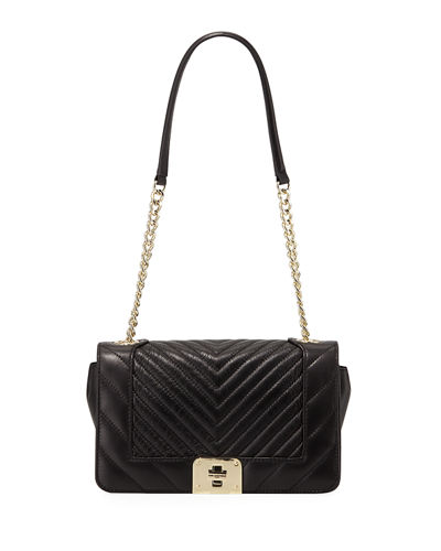 Lara Quilted Leather Box Shoulder Bag