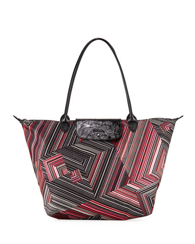 Le Pliage Pop Art Large Shoulder Tote Bag