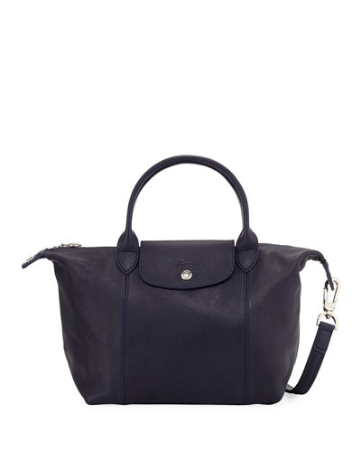 Longchamp Le Pliage Cuir Small Leather Top-Handle Bag