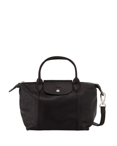 Le Pliage Cuir Small Leather Top-Handle Bag with