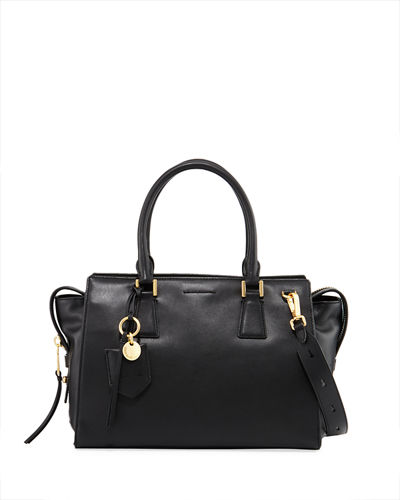 Marli Leather Square Satchel Bag