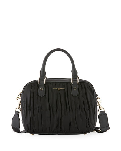 Kourtney Pleated Nylon Satchel Bag