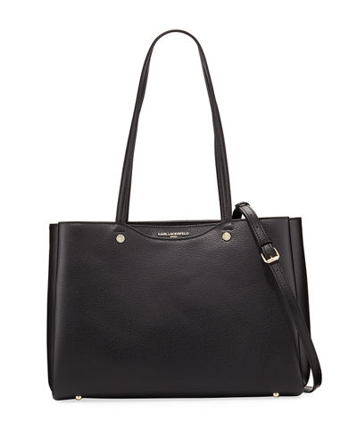 Karl Lagerfeld Paris Dorine Leather Tote Bag