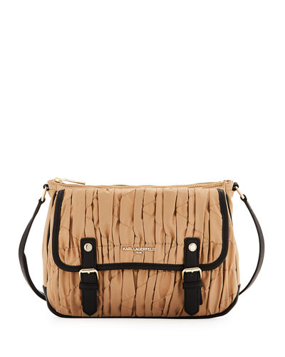 Karl Lagerfeld Paris Kourtney Quilted Two-Tone Crossbody Bag