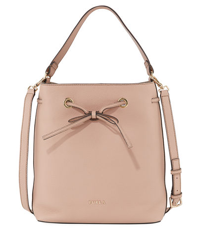 Costanza Medium Leather Bucket Bag