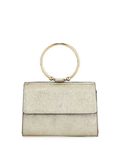 Metallic Ring Flap Crossbody Bag
