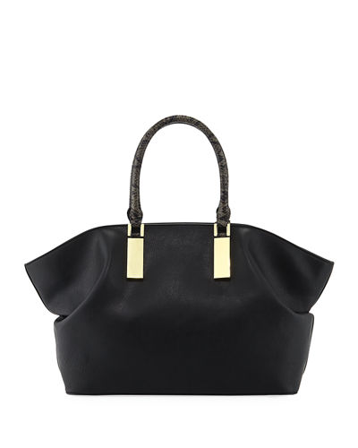 Libby Faux-Leather Satchel Bag