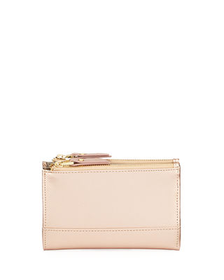 SAFFIANO DOUBLE-ZIP FOLD-OVER WALLET