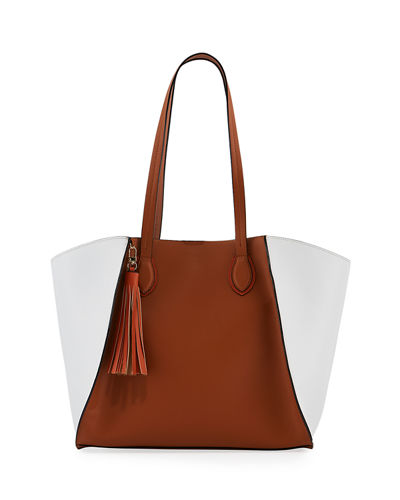 Major Colorblock Faux Tote Bag