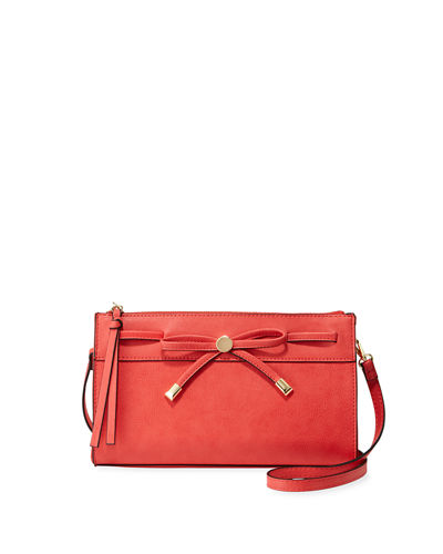 Dulce Zip-Top Crossbody Bag with Bow