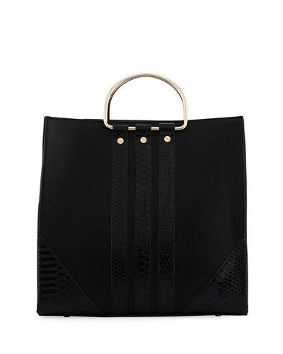 Loop Tall Faux Satchel Bag