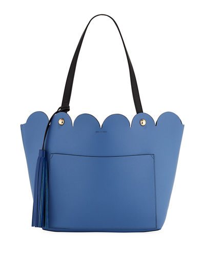 Louise Scalloped Tote Bag with Tassel