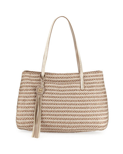 Dame Brooke Squishee® Straw Tote Bag
