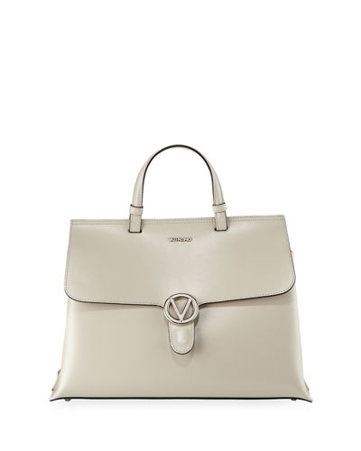 Olimpia Soave Leather Satchel Bag