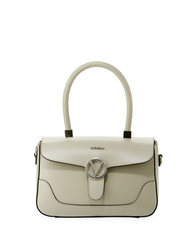 Gaelle Soave Leather Satchel Bag