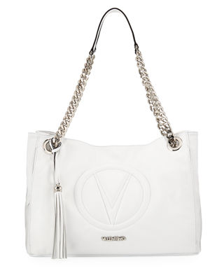 Verra Sauvage Leather Tote Bag, White