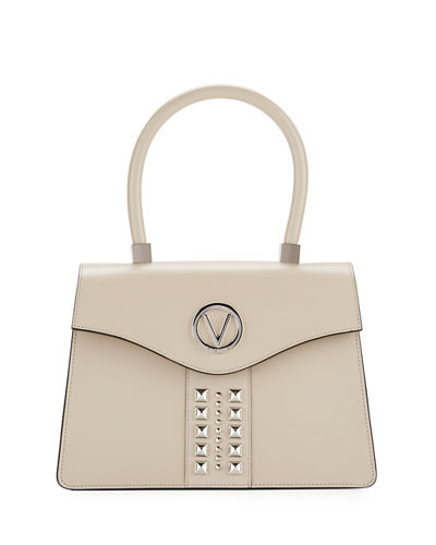 Melanie Soave Leather Satchel Bag