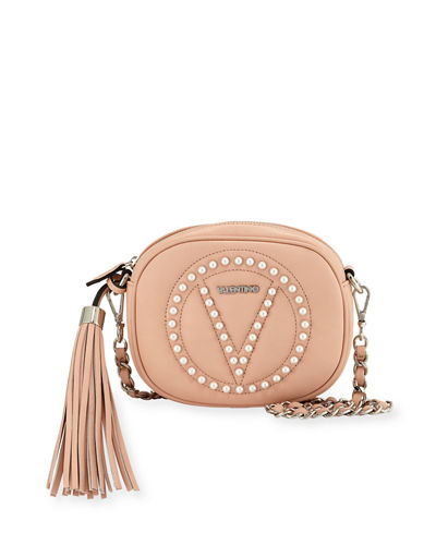 Nina Round Leather Crossbody Bag