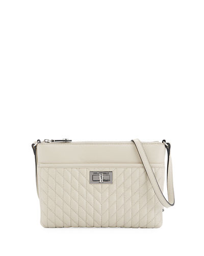 Agyness Quilted Leather Crossbody Bag