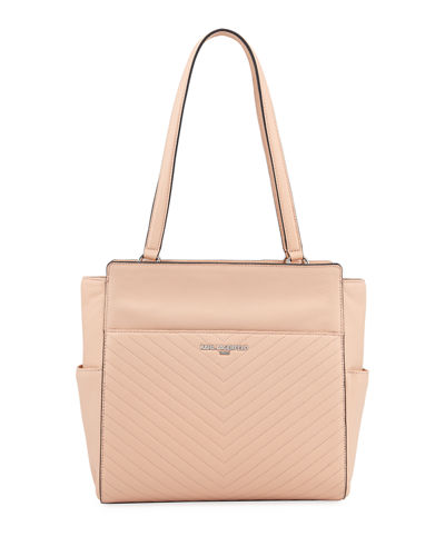 Karl Lagerfeld Paris Charlotte Quilted Leather Shoulder Tote