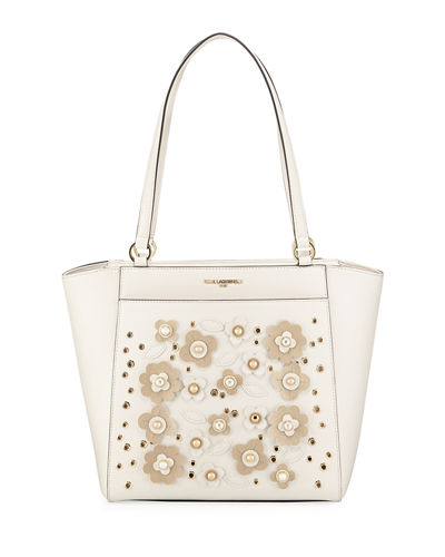 Karl Lagerfeld Paris Willow Saffiano Faux Tote Bag