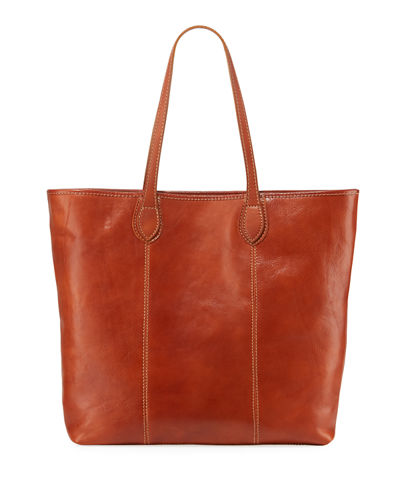 Slim Large Leather Tote Bag