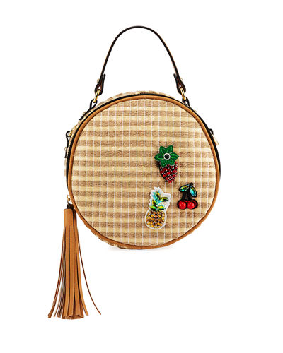 Dot Tassel Crossbody Bag