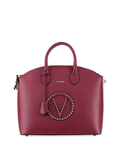 Bravia Rock Dollaro Leather Stud Satchel Bag