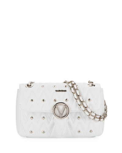 Antoinette Sauvage Leather Stud Shoulder Bag