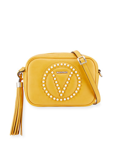 Mia Studded Leather Crossbody Bag