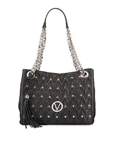 Luisa Sauvage Quilted Leather Tote Bag