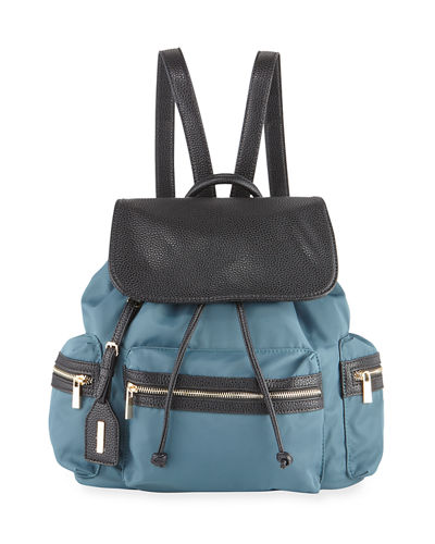Elizabeth Contrast-Trim Nylon Backpack