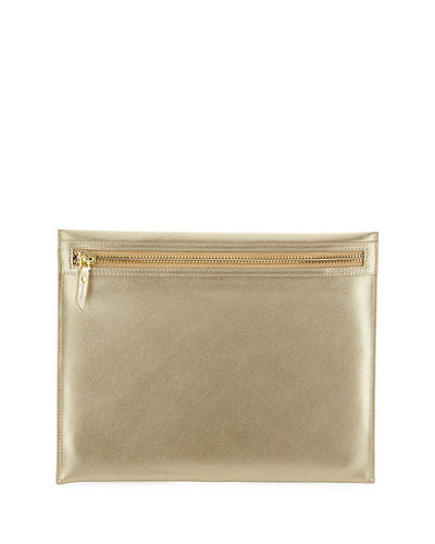 Medium Saffiano Dome Case, Gold