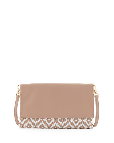 Weave Flap Clutch Bag