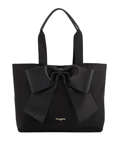 Kris Nylon Tote with Bow