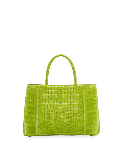 Medium Sectional Crocodile Tote Bag
