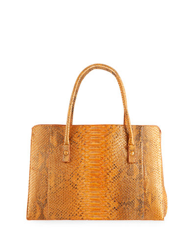 Python Top-Handle Satchel Bag