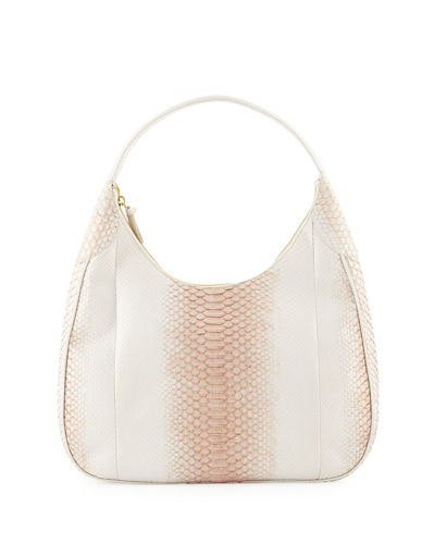 Python Shoulder Hobo Bag