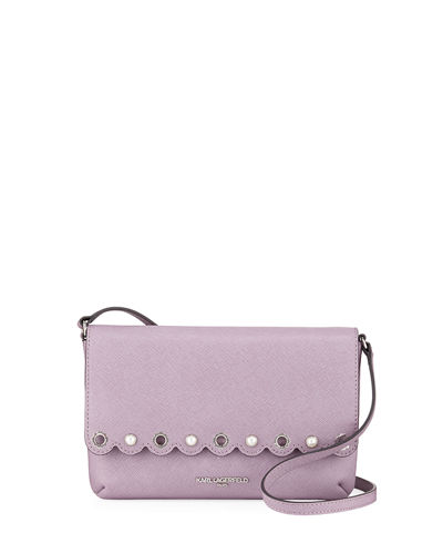 Karl Lagerfeld Paris Elsa Saffiano Crossbody Bag