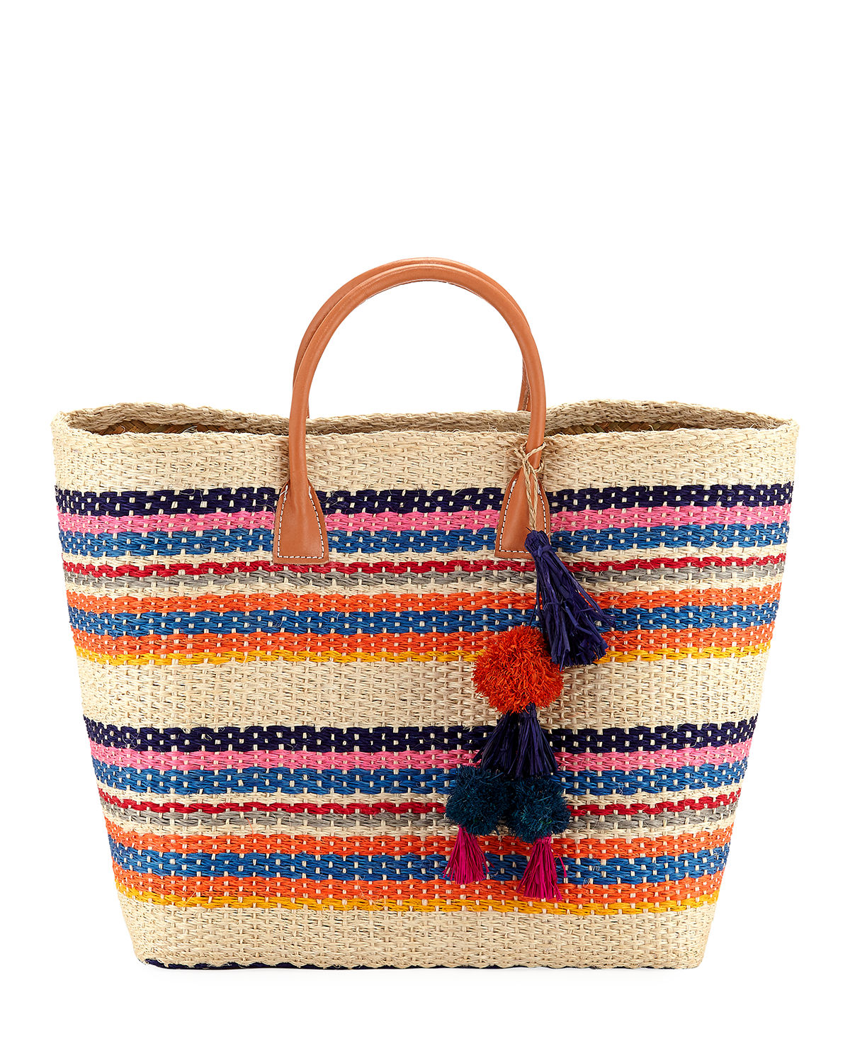 Provence Large Colorblock Straw Tote Bag