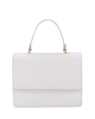 2-SIDED FAUX-SAFFIANO SATCHEL BAG