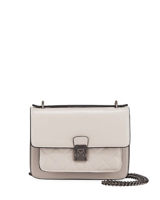 REESE DIAMOND QUILT LEATHER TOP-HANDLE LADY BAG